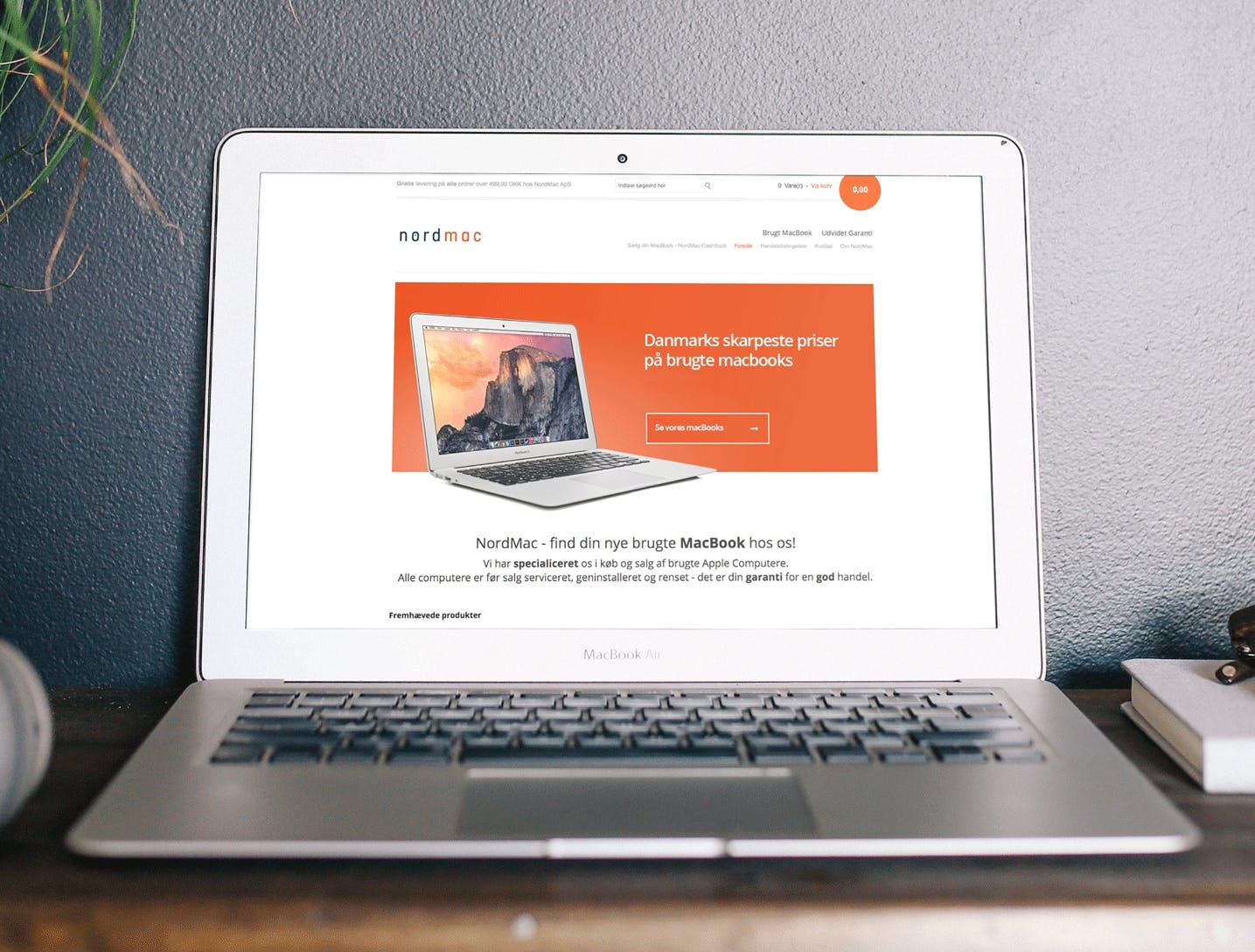 Webshop med salg af brugte MacBooks Omsætning på 707.000kr.