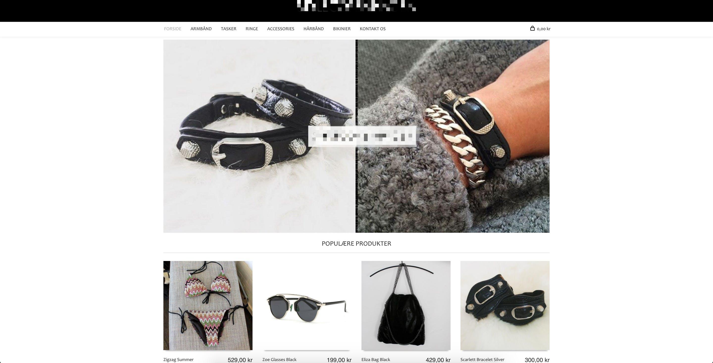 Webshop med salg af accessories til piger, stort varelager