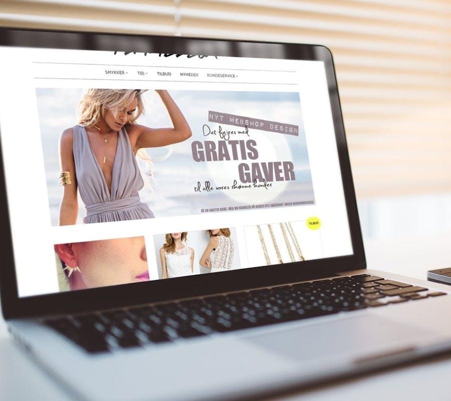 15e326a4f2e Trendy webshop med smykker og tøj til unge kvinder - shopify - salg på  67.000 i år